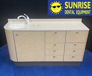 Adec 5531 Dental Side Cabinet W/ Left Side Sink And Faucet - Solid Countertop