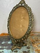 Vintage Victorian Style Solid Full Brass Pedestal Frame For Mirror Or Picture