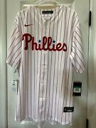 Nwt Nike Menand039s Philadelphia Phillies Bryce Harper White Cool Base Home Jersey