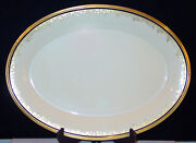 Discontinued Lenox China Eclipse Pattern Platter Size Small 14 Oval New