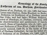 Sotheron , Southern Etc Family - Cos Durham York Northumberland - Ancestry 1874