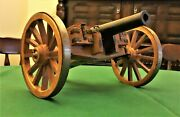 Vintage Large Example Of A Model Field Cannon
