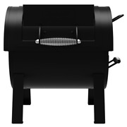 Charcoal Barrel Grill Side Firebox Table Top Portable Offset Smoker Box Steel