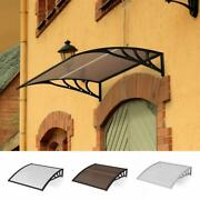 Front Door Window Awning Patio Uv Protected Eaves Canopy Rain Cover Outdoor Us