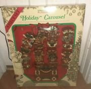 Vintage Mr Christmas Holiday Carousel Electric 8 Horses 21 Songs