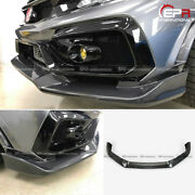 For Civic Typ-r Fk8 2017+ Vrs2 Style Carbon Front Lip Trim 2pcs With Ic Shroud