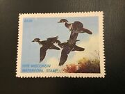 Icollectzone Us 1978 Wisconsin 1 Duck Stamp