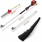 Tree Trimmer Cordless Extension Long Reach Saw With Carry Bag Pole Saw 8.2 Ft