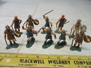 Vtg Lot Marx Warriors Of The World Wow Vikings 60mm Figures Soldiers Set Hk L2