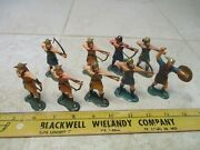 Vtg Lot Marx Warriors Of The World Wow Vikings 60mm Figures Soldiers Set Hk L3
