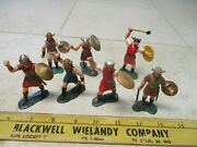 Vtg Lot Marx Warriors Of The World Wow Vikings 60mm Figures Soldiers Set Hk L5