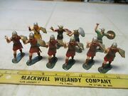 Vtg Lot Marx Warriors Of The World Wow Vikings 60mm Figures Soldiers Set Hk L7