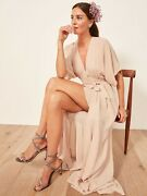 Sold Out New Auth Reformation Winslow Dress Champagne Xs/s