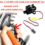 Automatic Winch W/third Channel Control For 1/16 Wpl C34k C44 Rc Axial Scx10 D90