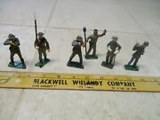 Vtg Lot Marx Warriors Of The World Wow Civil War 60mm Figures Soldiers Plastic 2