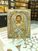 Jesus Christ Sterling Silver Orthodox Icon Silber Orthodoxe Ikone