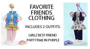 Madame Alexander Favorite Friends, 2 Clothing Outfits Fit 18 Inch Dolls Nib