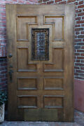 1920and039s Spanish Revival Walnut Front Door Witgrill W Original Hardware 12959