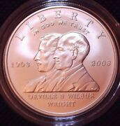 2003-p Orville And Wilbur Proof Silver Dollar 1ounce W/box And C Of A A12