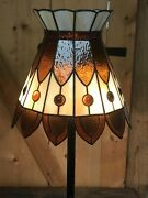 """Style Stained Glass Pendant Light Floor Lamp 13.5"""" Shade. 3 Bulb"""