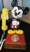 Vintage Mickey Mouse Telephone - Rotary Dial Phone 1976 Disney Telephone Works