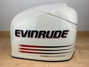 Brp Evinrude Ficht 250hp Top Engine Cowling Cover - White And Red - Scratched
