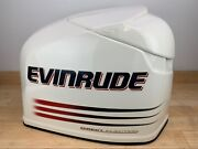 Brp Evinrude Ficht 250hp Top Engine Cowling Cover - White And Red - 200 225 250