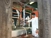 Vintage 1960s Poster Print Picture Story Study Prints Using Milking Equipment