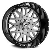 20 Xf Flow Forged Xfx-307 Gloss Black Brushed Wheels Qty 4