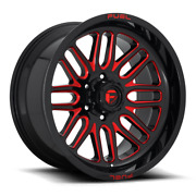 22 Fuel D663 Ignite Gloss Black Red Tinted Wheels Qty 4