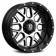20 Xd Series Xd820 Grenade Satin Black Machined Face Wheels Qty 4