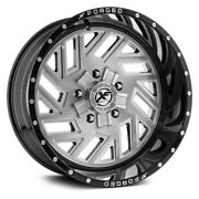 20 Xf Flow Forged Xfx-304 Gloss Black Brushed Wheels Qty 4