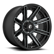 20 Fuel D708 Rogue Gloss Machined Double Dark Tint Wheels Qty 4