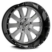 24 Xf Flow Forged Xfx-302 Gloss Black Brushed 5x127 -76mm Wheels Qty 4