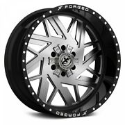 20 Xf Flow Forged Xfx-306 Gloss Black Brushed Wheels Qty 4