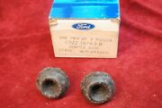 65 Nos Ford Mustang Hood Bumpers Pair In Box C5zz 16763 B Perfect Condition