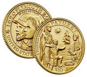 Mayflower 400th Anniversary Gold Reverse Proof Coin - In Hand