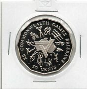 Australian Proof 1982 50 Cent Coin Commonwealth Games In 2x2 Holder