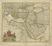 Antique Map Of The Turkish Empire By De Wit C.1700