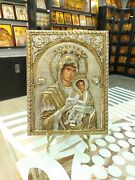 Mother Of God Sterling Silver Orthodox Icon Silber Orthodoxe Ikone
