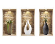 3d Wall Stickers Art, Niche Illusion Set, Home Decoration Removable