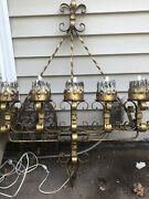 Spanish Revival Wrought Iron Gothic 5 Light Candle Scone Xl Candelabra