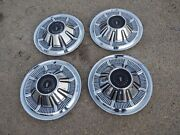 1966 1967 Ford Pickup Galaxie Black Lens Wheelcovers Hubcaps Set 4 229 Free