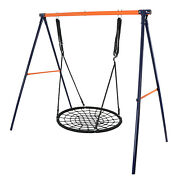 Metal A-frame Lawn Swing Frame And 40 Durable Web Swing Durable Pe Rope Relax