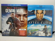 Gemini Man Blu-ray+dvd+digital+slip Cover, New +after Earth Like-new Will Smith