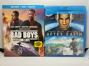 Bad Boys For Life Blu-ray+dvd+digital+slip Cover, New + After Earth Like-new