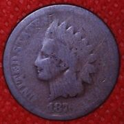 1876 Indian Head Cent Penny 1c Better Date A120