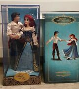 Disney Store Ariel And Eric Fairytale Designer Doll Set Limited Edition