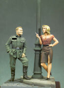 German Army Soldier On A Date Painted Figure Toy Miniature Pre-sale   Art