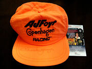 Chuck Yeager Speed Of Sound Ace Pilot Signed Auto Aj Foyt Racing Hat Cap Jsa